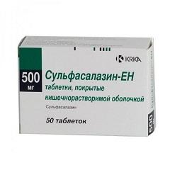 Таблетки, покрытые кишечнорастворимой оболочкой, Сульфасалазин-ЕН