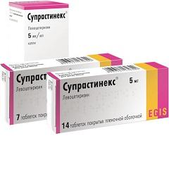 Капли и таблетки Супрастинекс