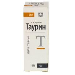 Капли глазные 4% Таурин