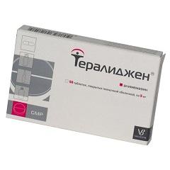 Таблетки, покрытые пленочной оболочкой, Тералиджен