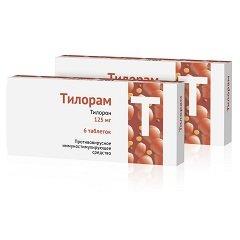 Таблетки, покрытые пленочной оболочкой, Тилорам