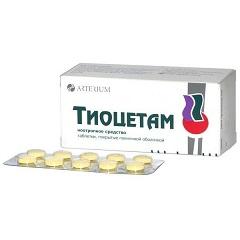 Таблетки, покрытые оболочкой, Тиоцетам