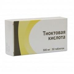 Таблетки Тиоктовая кислота
