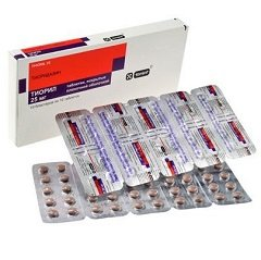 Таблетки, покрытые пленочной оболочкой, Тиорил