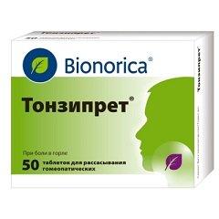 Таблетки для рассасывания гомеопатические Тонзипрет