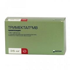 Таблетки, покрытые пленочной оболочкой, с модифицированным высвобождением Тримектал МВ