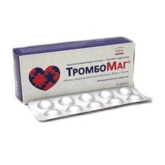 Таблетки, покрытые пленочной оболочкой, ТромбоМаг
