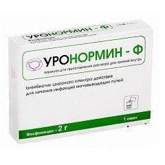 Порошок для приготовления раствора для приема внутрь Уронормин-Ф