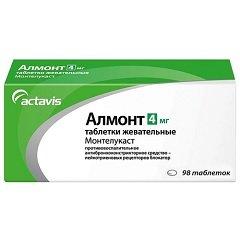 Таблетки жевательные Алмонт