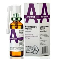 Спрей для местного применения дозированный Бензидамин-Акрихин