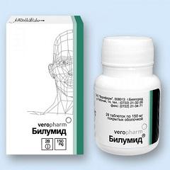 Таблетки, покрытые пленочной оболочкой, Билумид