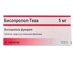 Таблетки, покрытые пленочной оболочкой, Бисопролол-Тева