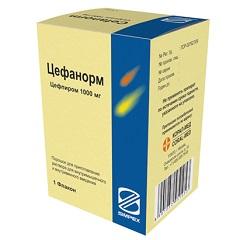 Порошок для приготовления раствора для внутривенного и внутримышечного введения Цефанорм