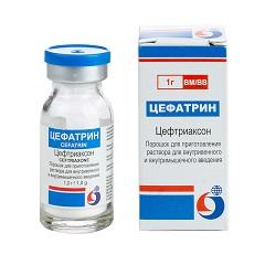 Порошок для приготовления раствора для в/м и в/в введения Цефатрин