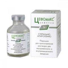 Порошок для приготовления раствора для внутривенного и внутримышечного введения Цефомакс