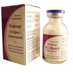 Порошок для приготовления раствора для внутривенного и внутримышечного введения Цефпар