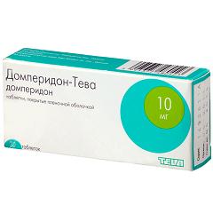 Таблетки, покрытые пленочной оболочкой, Домперидон-Тева