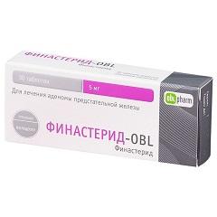 Таблетки, покрытые пленочной оболочкой, Финастерид-OBL