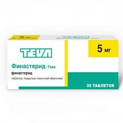 Таблетки, покрытые пленочной оболочкой, Финастерид-Тева