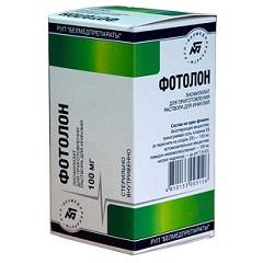 Лиофилизат для приготовления раствора для инфузий Фотолон