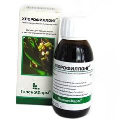 Раствор для приема внутрь и местного применения Хлорофиллонг