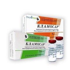 Порошок для приготовления раствора для внутривенного введения Кламосар