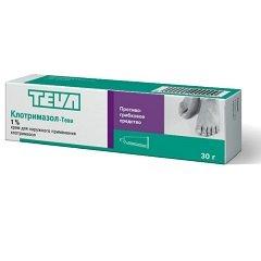 Крем для наружного применения 1% Клотримазол-Тева