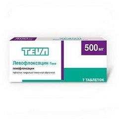 Таблетки, покрытые пленочной оболочкой, Левофлоксацин-Тева