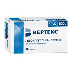 Таблетки, покрытые пленочной оболочкой, Левофлоксацин-ВЕРТЕКС