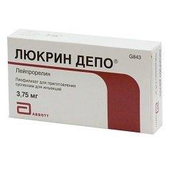 Лиофилизат для приготовления суспензии для инъекций Люкрин депо