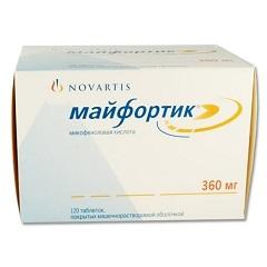 Таблетки, покрытые кишечнорастворимой оболочкой, Майфортик