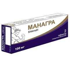 Таблетки, покрытые оболочкой, Манагра