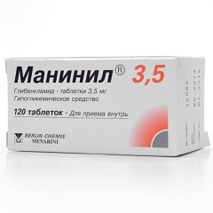 Таблетки Манинил 3,5