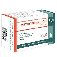 Таблетки с модифицированным высвобождением Метформин лонг