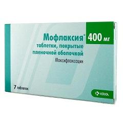 Таблетки, покрытые пленочной оболочкой, Мофлаксия