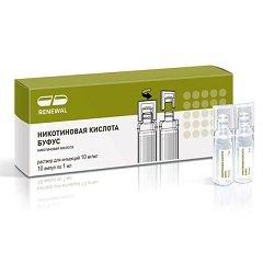 Раствор для инъекций Никотиновая кислота буфус
