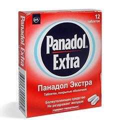Таблетки, покрытые оболочкой, Панадол экстра