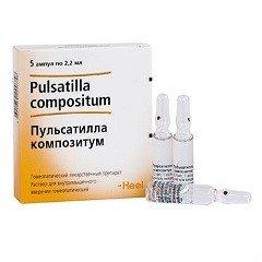 Раствор для внутримышечного введения гомеопатический Пульсатилла композитум