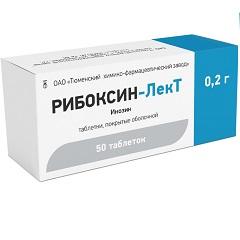 Таблетки, покрытые оболочкой, Рибоксин-ЛекТ