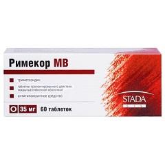 Таблетки пролонгированного действия, покрытые пленочной оболочкой, Римекор МВ