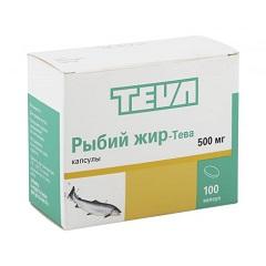 Капсулы Рыбий жир-Тева 500 мг