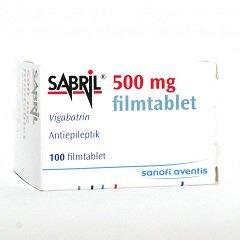 Таблетки, покрытые оболочкой, Сабрил