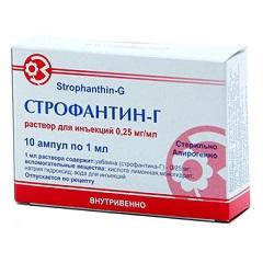 Раствор для внутривенного введения Строфантин-Г