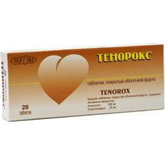 Таблетки, покрытые оболочкой, Тенорокс
