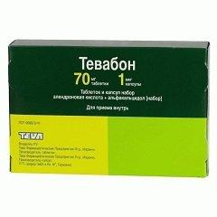 Набор таблеток и капсул Тевабон