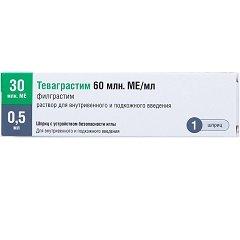 Раствор для внутривенного и подкожного введения Теваграстим