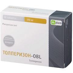 Таблетки, покрытые пленочной оболочкой, Толперизон-OBL