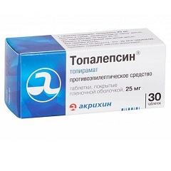 Таблетки, покрытые пленочной оболочкой, Топалепсин
