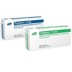 Таблетки пролонгированного действия, покрытые пленочной оболочкой, Товиаз