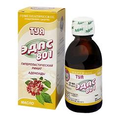 Масло для местного применения гомеопатическое Туя Эдас-801